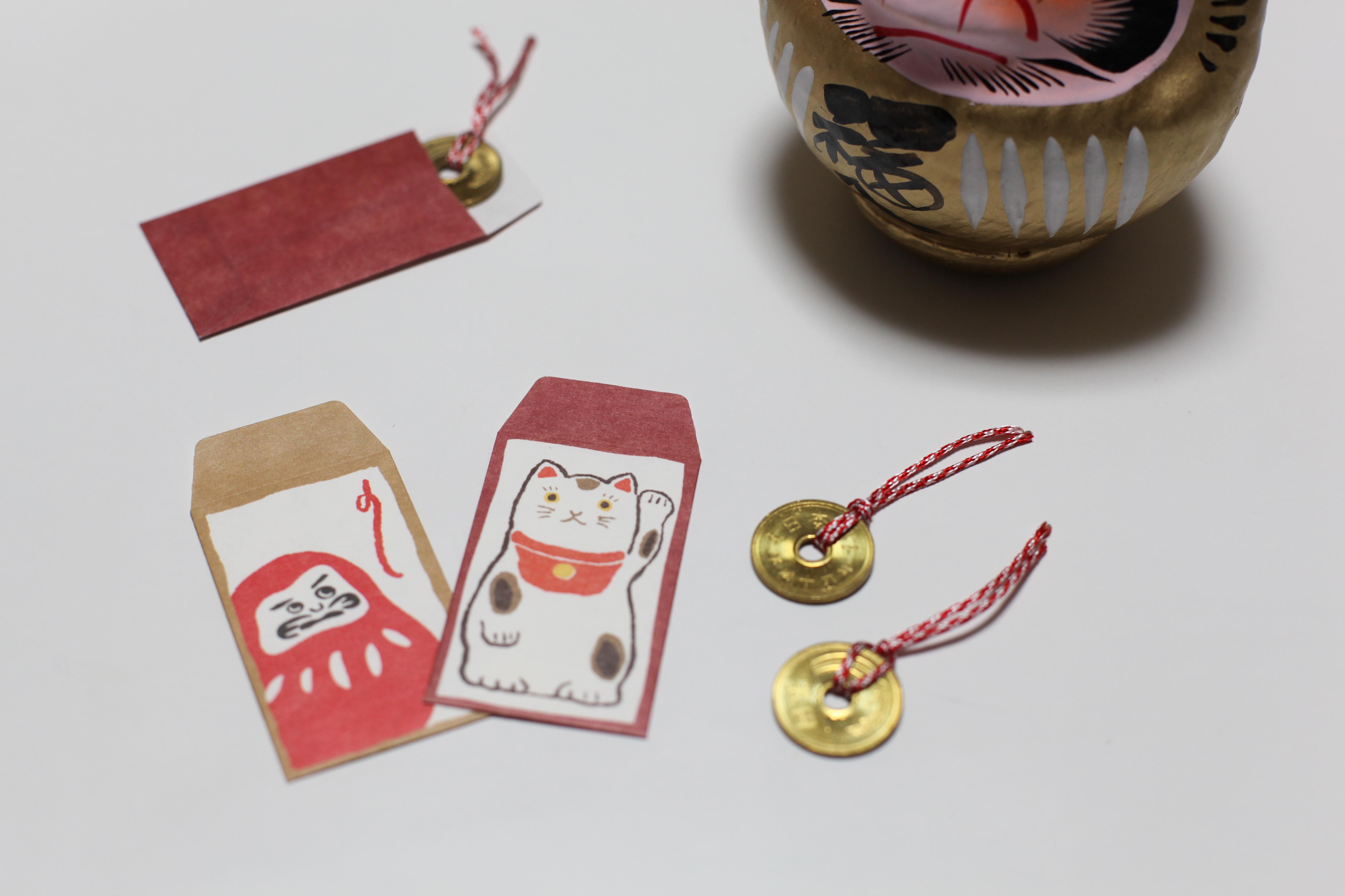 Монета 5 йен на удачу с подвеской