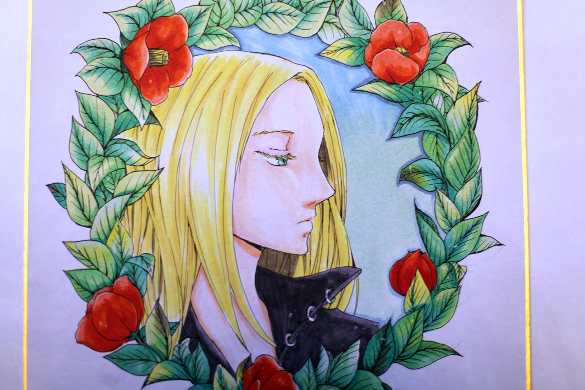 """Рисунок """"Цветочная принцесса"""""""