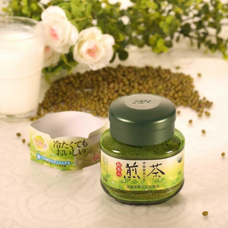 Порошковый зеленый чай Blendy c добавление Матча