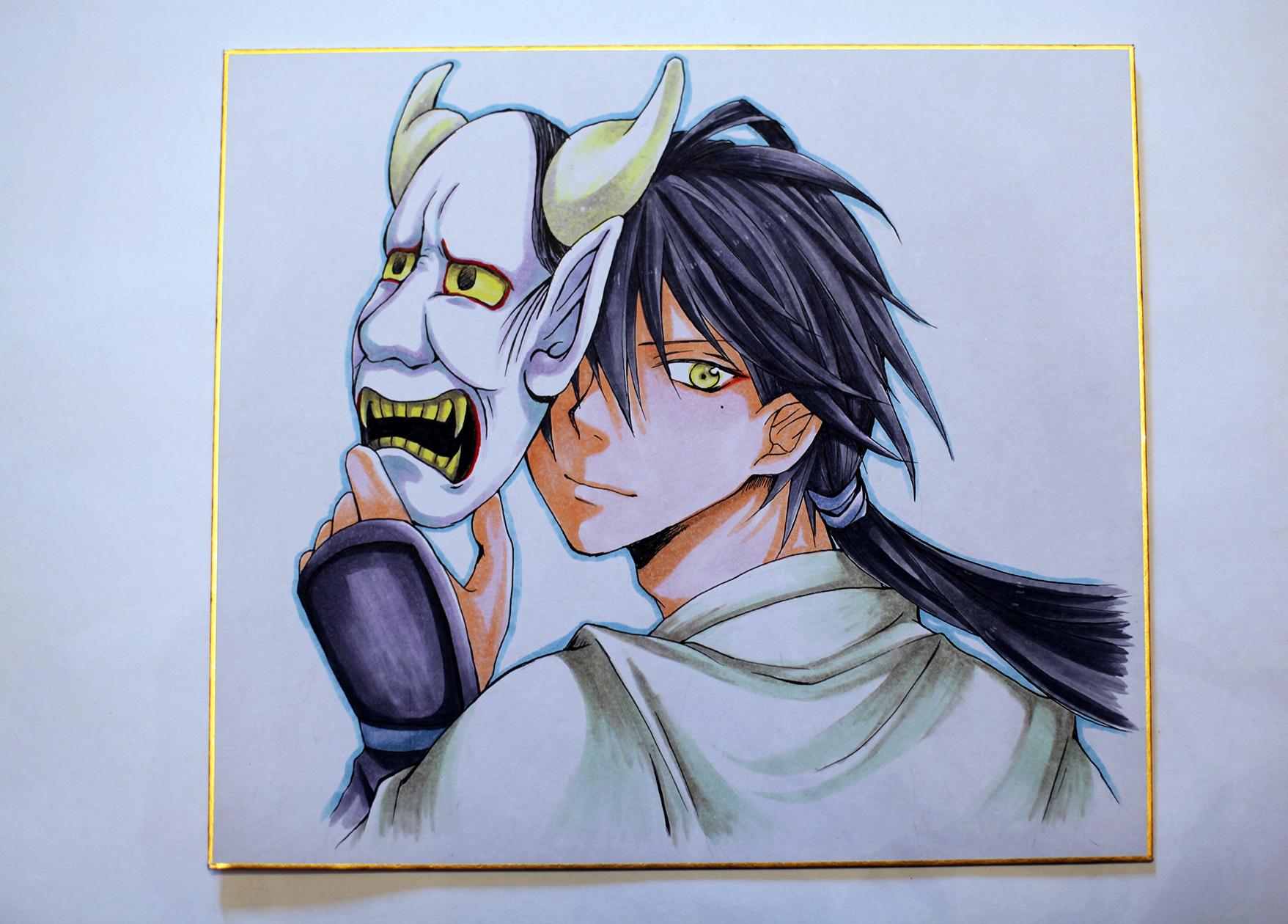"""Рисунок """"ниндзя с маской демона"""""""