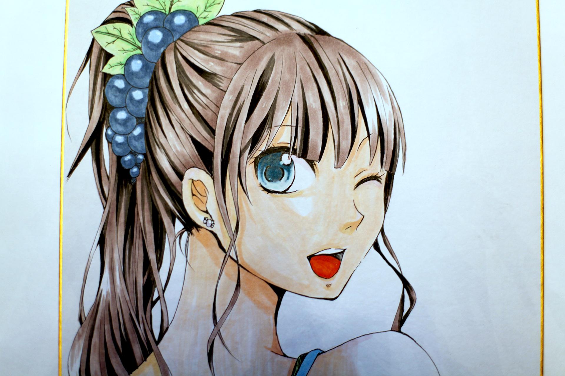 """Рисунок """"Девушка с виноградной заколкой"""""""